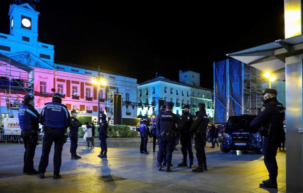 Puerta del Sol, Policía, Nochevieja, coronavirus, Madrid