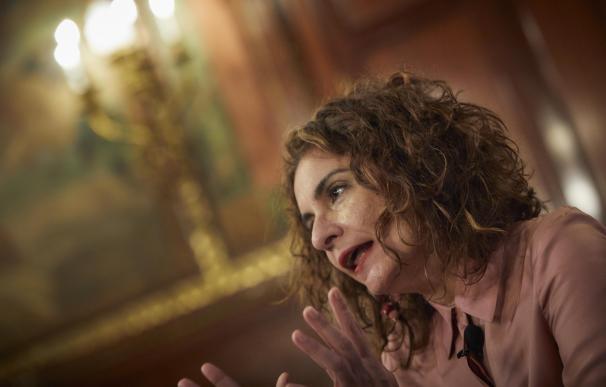 La ministra de Hacienda, María Jesús Montero, en una entrevista con EP.