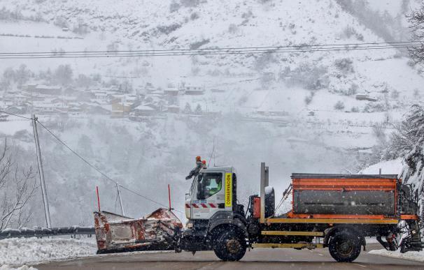 Nieve camión nevada temperaturas frío tiempo España