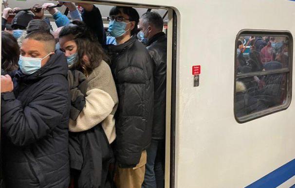 Metro madrid colapso