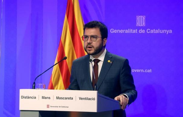 El Presidente en funciones de la Generalitat, Pera Aragonés