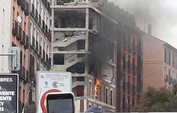 Arde parte del edificio de la calle Toledo tras la explosión registrada EUROPA PRESS 20/1/2021
