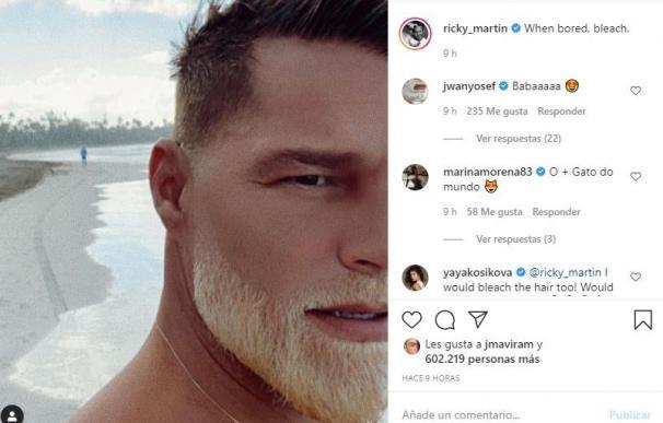 Ricky Martin y su barba rubia