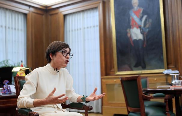 La directora de la Guardia Civil, María Gámez, en una entrevista con la Agencia Efe.