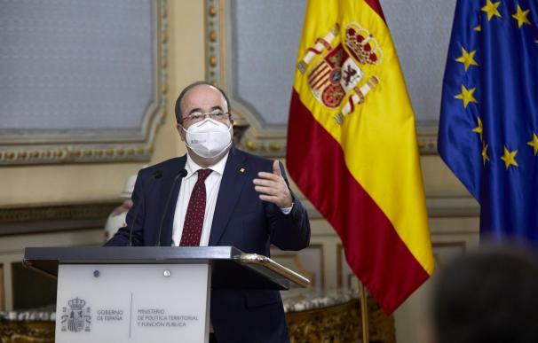 El ministro de Función Pública y Política Territorial, Miquel Iceta, en el día de su toma de posesion.