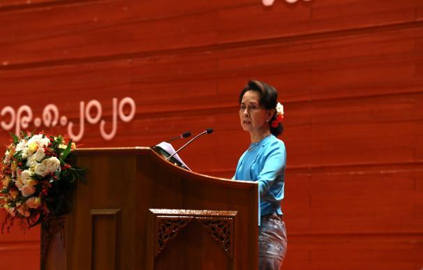 Aung San Suu Kyi, líder 'de facto' del Gobierno de Birmania