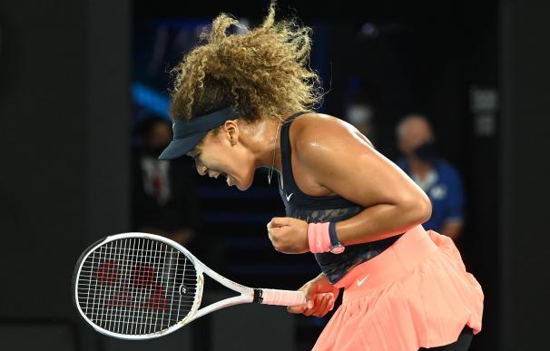 La tenista japonesa Naomi Osaka celebra un punto en la final del Open de Australia.