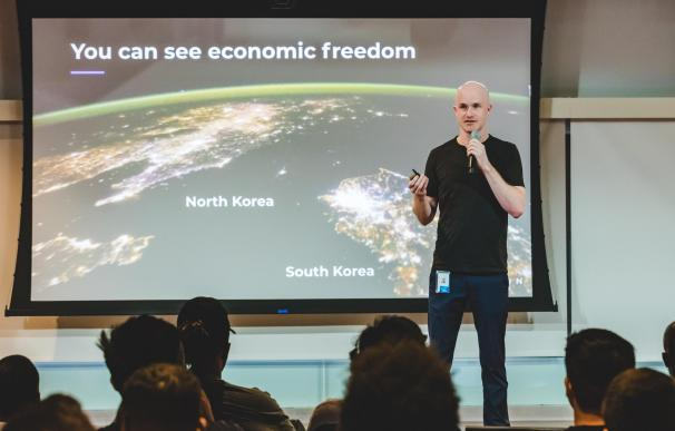 Brian Amrstrong, cofundador y consejero delegado de Coinbase