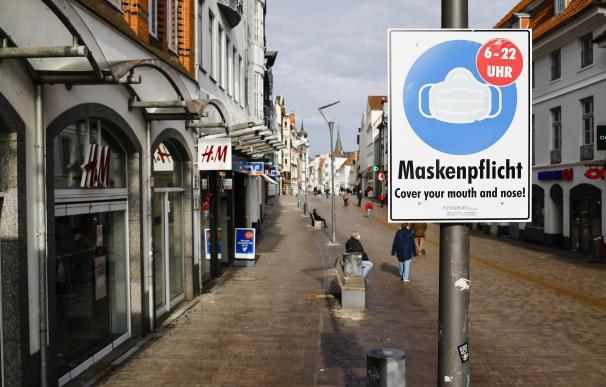 Una calle en Alemania durante la pandemia de coronavirus Frank Molter / dpa 20/2/2021 ONLY FOR USE IN SPAIN