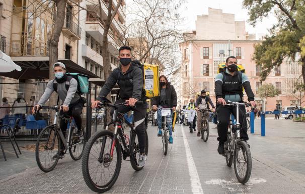 Glovo riders manifestación