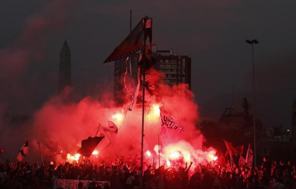 Protestas contra el Gobierno en Santiago de Chile.