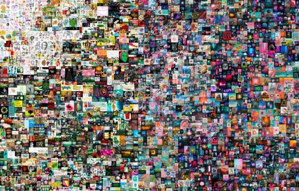 """Fotografía cedida por la casa de subastas Christie's donde se muestra la obra """"Everydays: The First 5000 Days"""" (Todos los días: los primeros 5000 días)"""