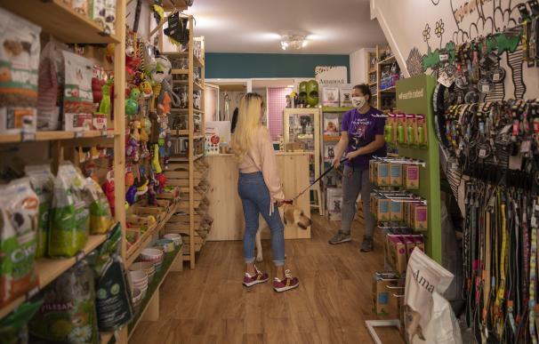 La tienda de mascotas Animaladas en el centro de Sevilla.