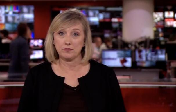 Instante del anuncio de la muerte de Felipe de Edimburgo en BBC.