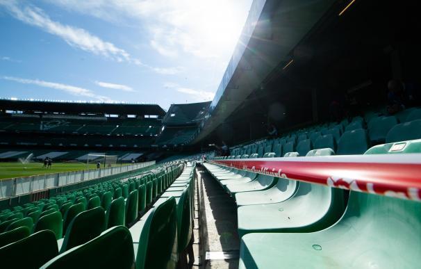 El estadio Benito Villamarín antes del partido entre el Real Betis Balompie y Valencia CF.