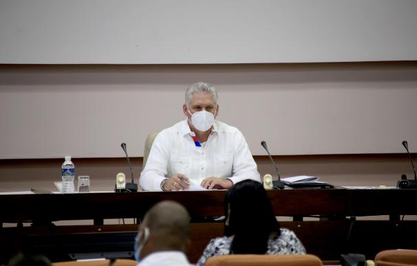 Miguel Díaz-Canel en el congreso del Partido Comunista de Cuba XINHUA / XINHUA NEWS / CONTACTOPHOTO 16/4/2021 ONLY FOR USE IN SPAIN