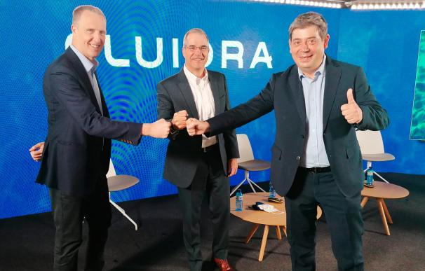 La cúpula de Fluidra: Xavier Tintoré (CFO), Bruce Brooks (presidente) y Eloi Planes (CEO).