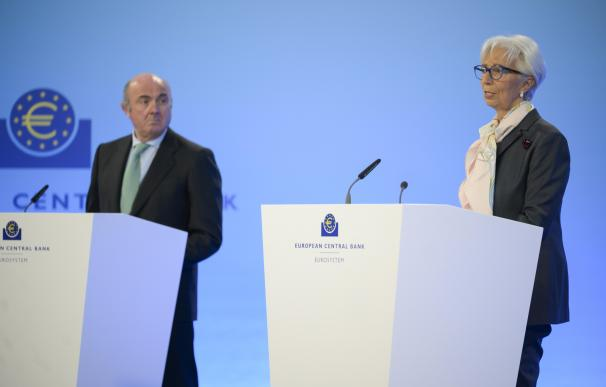 Luis de Guindos, vicepresidente del Banco Central Europea (BCE), y Christine Lagarde, presidenta.