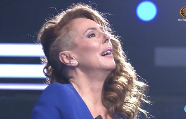 Rocío Carrasco, emocionada, en su reaparición en Telecinco