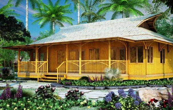 La casa prefabricada Bali 960 de Bamboo Living.