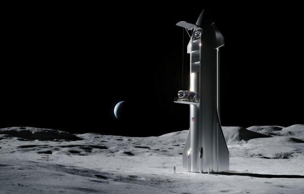 Concepto de aterrizador lunar de Space X