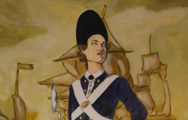 Ilustración sobre Ana María de Soto en el Museo Naval de San Fernando.