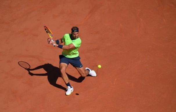 El tenista español Rafa Nadal durante su debut en Roland Garros 2021 FFT 1/6/2021