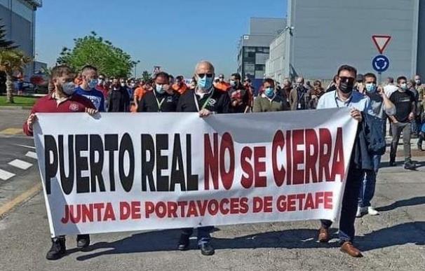 Trabajadores de Airbus llevan a cabo concentraciones, encierros y paros por la permanencia del empleo CCOO (Foto de ARCHIVO) 8/5/2021