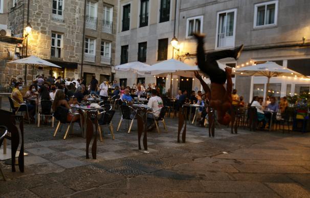 Bares y restaurantes en el casco histórico de Orense.