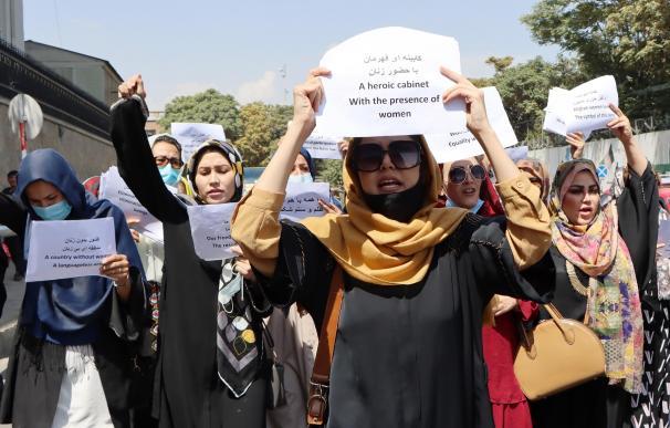 Mujeres afganas protestan en Kabul.