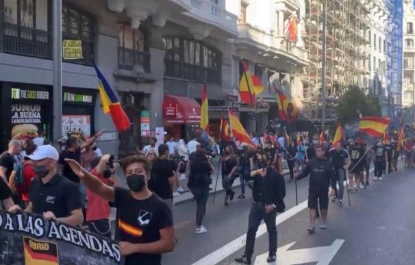 Manifestación de neonazis en Chueca.