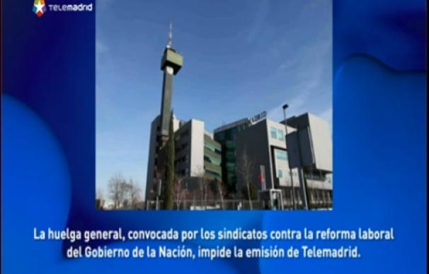 TELEMADRID APAGON HUELGA 29M