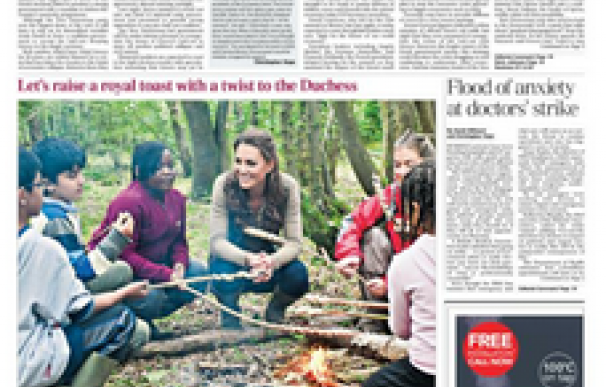 TELEGRAPH FRONT PAGE- Greece