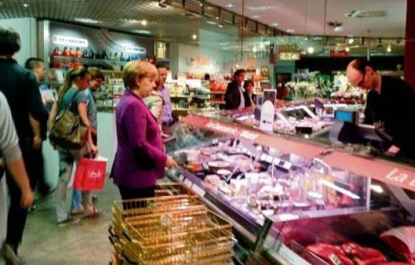 Angela Merkel Supermarkt