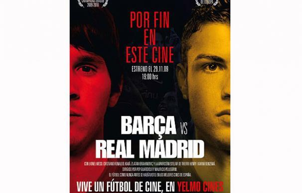 El cartel promocional del Barcelona-Real Madrid