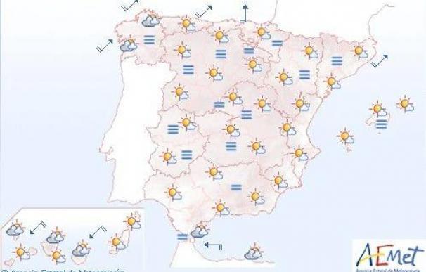 Intervalos nubosos en Galicia, Castilla y León y norte de las Islas Canarias