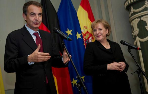 Merkel garantiza a Zapatero el apoyo alemán a la presidencia española de la UE