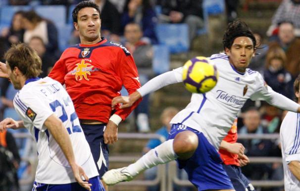 0-1. Osasuna se lleva el duelo con el Zaragoza y coge aire