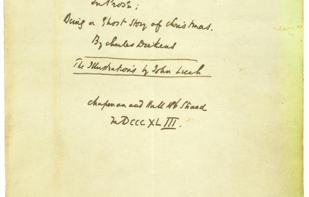 """Los secretos de """"Cuento de Navidad"""", de Dickens, se exponen en Nueva York"""