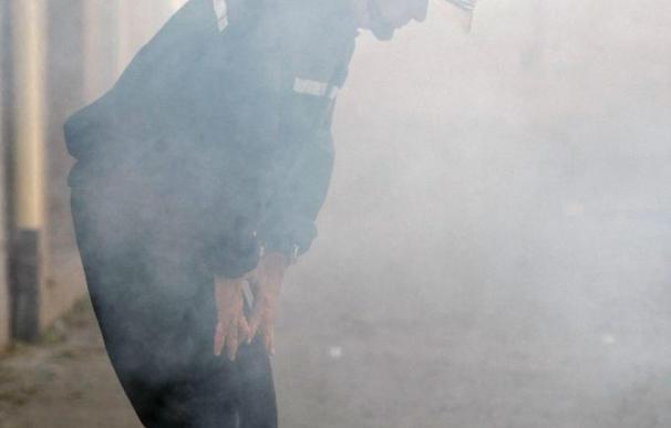 Una explosión de gas destruye la última planta de un edificio de oficinas en Madrid