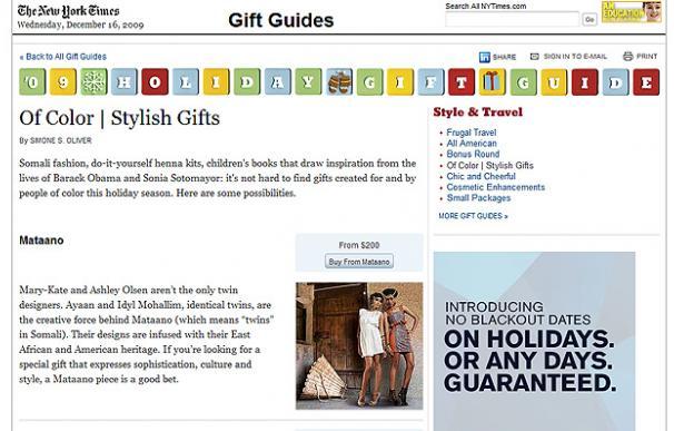 """Guía de regalos para """"gente de color"""" de The New York Times"""
