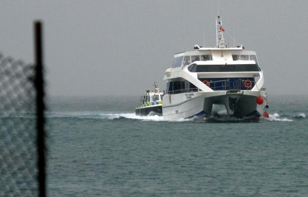 El barco que unirá Gibraltar y Algeciras hace su viaje inaugural