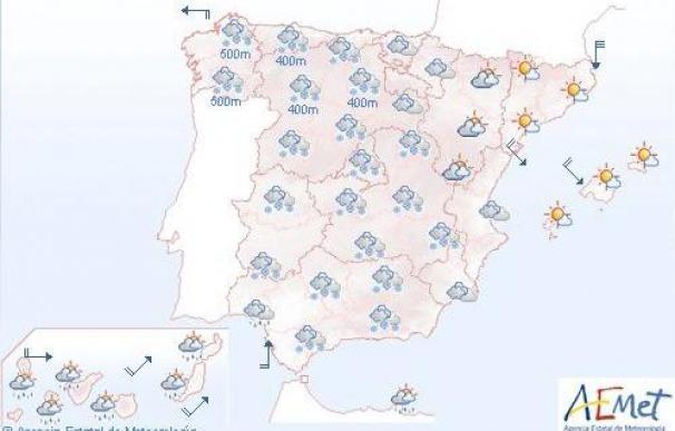 Meteorología espera hoy nieve en cotas bajas y muchas heladas en el interior
