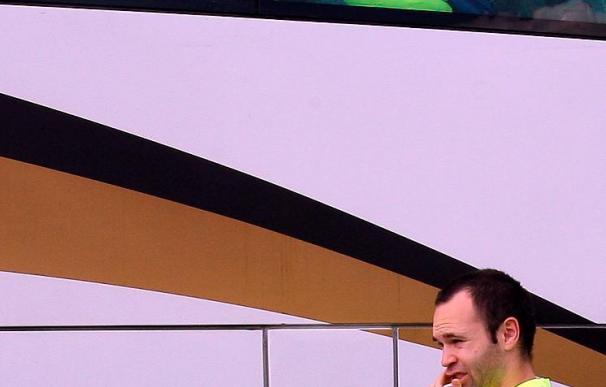 Iniesta se perderá la final contra el Estudiantes por lesión muscular