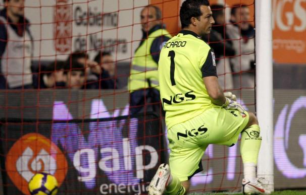 Ricardo sufre una leve torcedura de tobillo aunque podrá jugar en Málaga