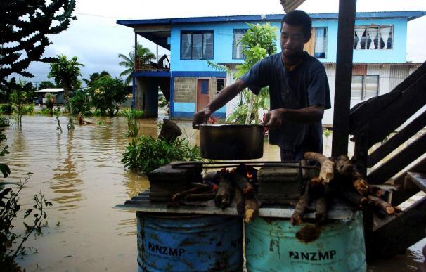 Al menos cuatro muertos por un ciclón en Fiyi