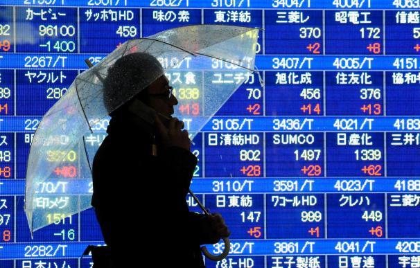 El índice Nikkei baja 56,92 puntos, 0,56 por ciento, hasta 10.048,76 puntos