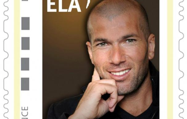 La imagen de Zinedine Zidane, en un sello postal