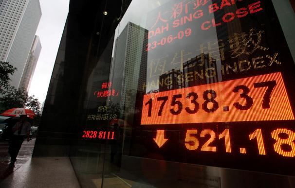 El índice Hang Seng pierde 110,92 puntos,el 0,49 por ciento, en la apertura