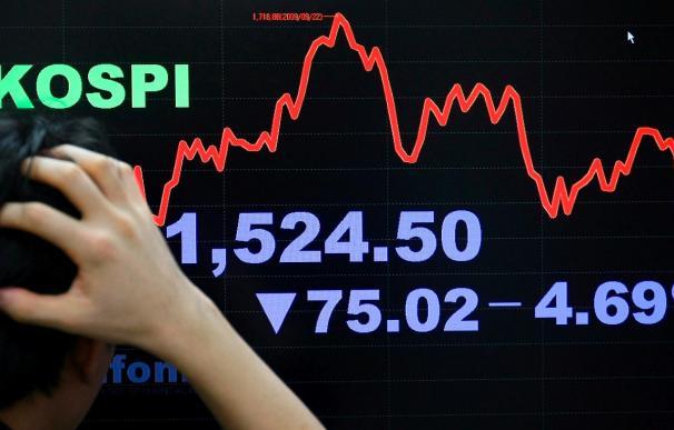 El índice Kospi sube 8,54 puntos, 0,52 por ciento, hasta 1.633,30 puntos